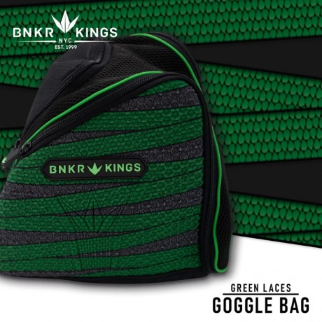 Bunkerkings Supreme Goggle Bag (Lime Laces)   Paintball Sports