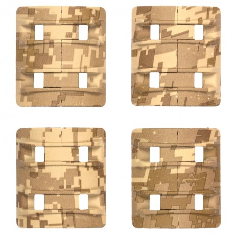 Camo Weaverrail Cover 4er Pack (Digital Desert Camo) | Paintball Sports