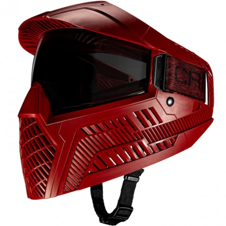 Carbon OPR Paintball Maske (Dunkel Rot) | Paintball Sports