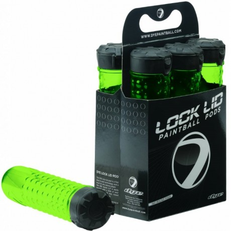 DYE 160er Paintball LockLid Pod / Speedloader - LIME GREEN | Paintball Sports