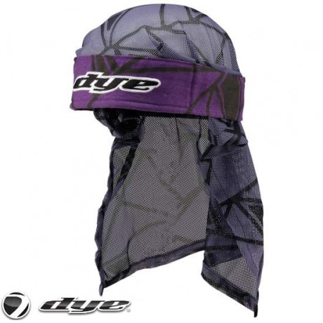 Dye Paintball Head Wrap (Infused - Purple/Black/Grey) | Paintball Sports