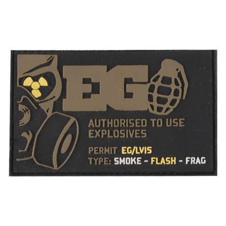 Enolagaye Klett-Patch (Authorised To Use Explosives) | Paintball Sports