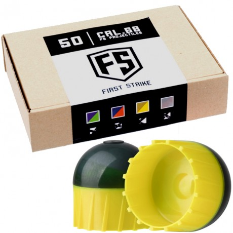 First Strike Paintballs 50 Schuss Box (grau/gelb) | Paintball Sports