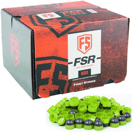 First Strike Paintballs 600 Schuss Box (grau / grün) | Paintball Sports