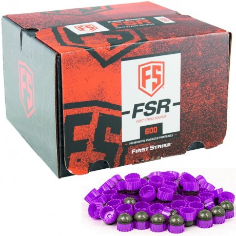 First Strike Paintballs 600 Schuss Box (grau / lila) | Paintball Sports