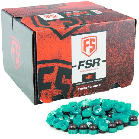First Strike Paintballs 600 Schuss Box (grau / mintgrün) | Paintball Sports