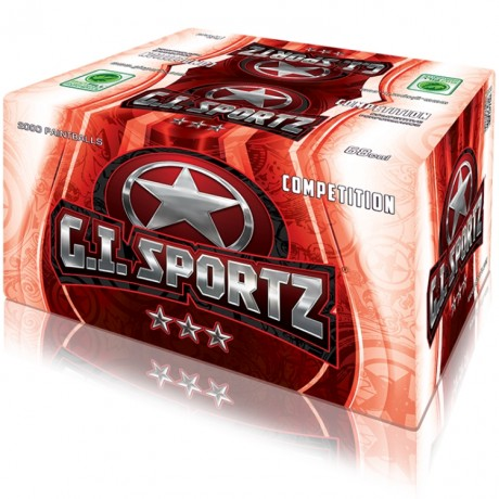 G.I. Sportz 3 Star Premium Paintballs (2000er Karton) | Paintball Sports