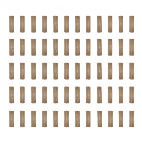 Index Camo Clips für 20mm Weaverrail (60er Packung) - TAN | Paintball Sports