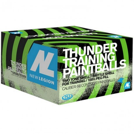 New Legion Thunder Premium Paintballs (2000er Karton) | Paintball Sports