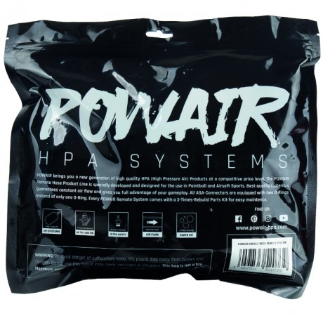 PowAir Double Hose Paintball Remote System mit On/Off (schwarz) | Paintball Sports
