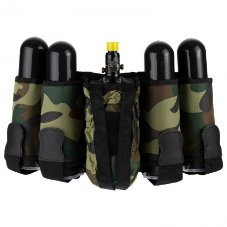 Paintball Tactical Battlepack 4+1 (Woodland) | Paintball Sports