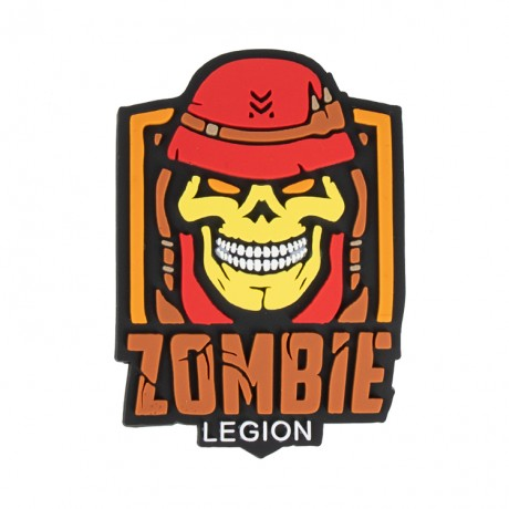 "Paintball / Airsoft PVC Klettpatch (Zombie Legion ""rot"") 