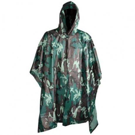 Paintball / Gotcha / Airsoft Regenponcho (Woodland Camo) | Paintball Sports