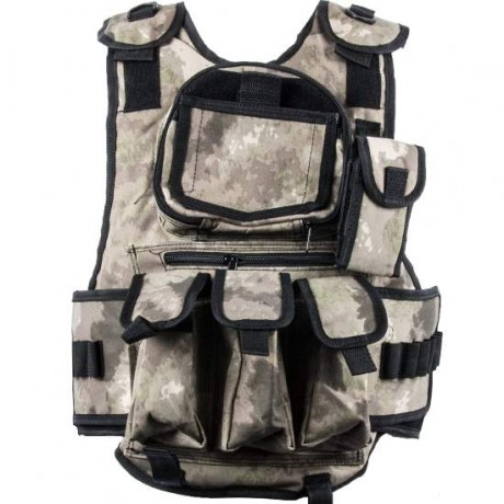 Paintball Tactical Weste 6+1 (Urban brown/grey Camo) | Paintball Sports