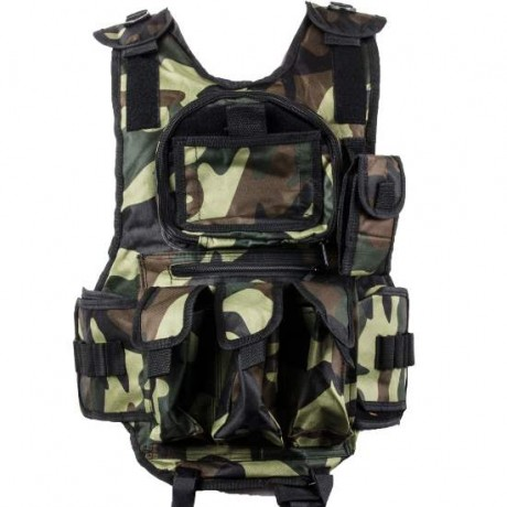 Paintball Tactical Weste 6+1 (Woodland) | Paintball Sports
