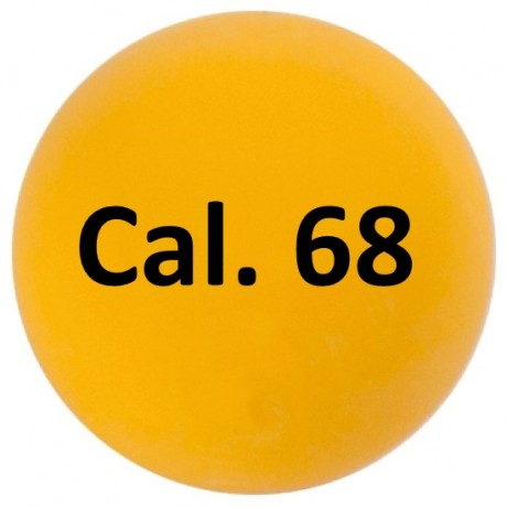 Cal. 68 Paintball Rubberballs / Gummigeschosse (100 Stück) - GELB | Paintball Sports