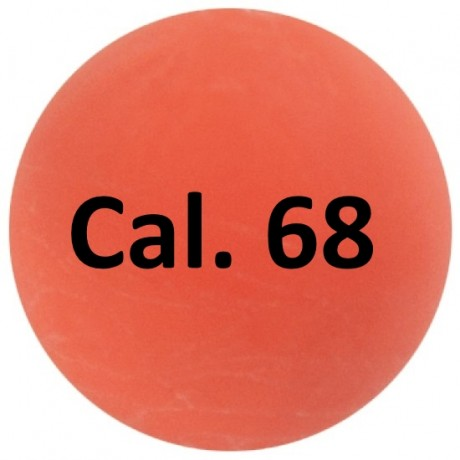 Cal. 68 Paintball Rubberballs / Gummigeschosse (100 Stück) - ORANGE | Paintball Sports