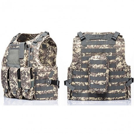 Tactical Paintball Molle Weste mit Taschen (Digital ACU Camo) | Paintball Sports