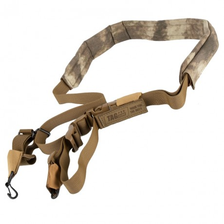Taginn PRO SLING Trageriemen / Tactical Sling (Coyote Brown, Comfort Pad A-TACS AU) | Paintball Sports