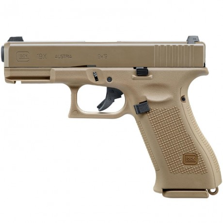 Umarex Glock 19x GBB Airsoft Pistole (tan) | Paintball Sports