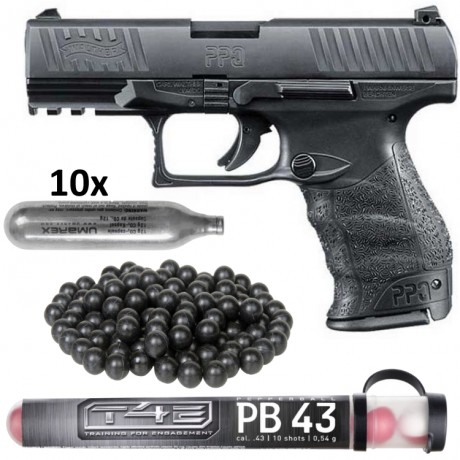 Walther PPQ M2 T4E Pistole HOME DEFENCE Kit (schwarz) | Paintball Sports