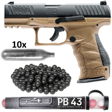 Walther PPQ M2 T4E Pistole HOME DEFENCE Kit (tan) | Paintball Sports