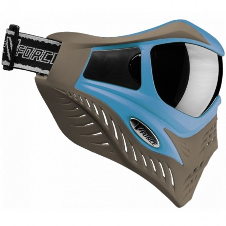V-Force Grill Paintball Thermalmaske Ltd Edition (taupe/blau) | Paintball Sports