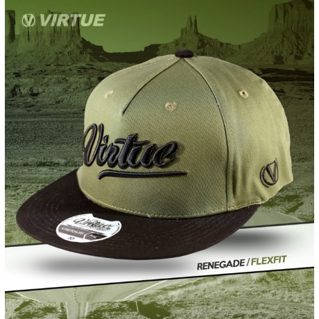 Virtue Paintball Flex Fit Hat (Olive - Renegade All-Star) | Paintball Sports