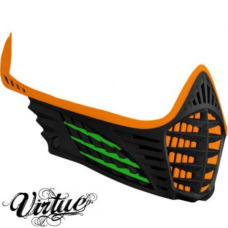 Virtue VIO Facemask / Maskenrahmen (orange - lime - schwarz) | Paintball Sports