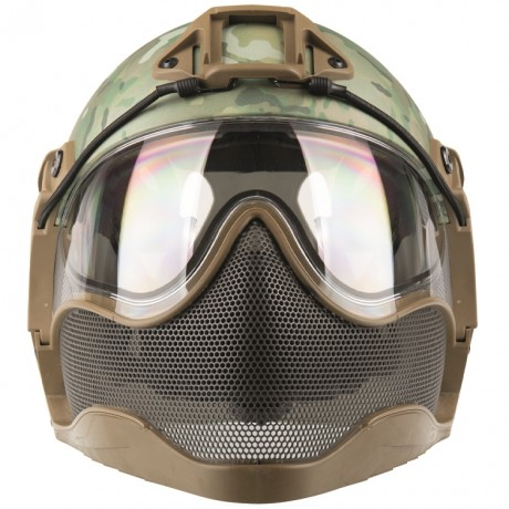 WarQ Fullface Airsoft Schutzhelm (MULTICAM Special Edition) | Paintball Sports