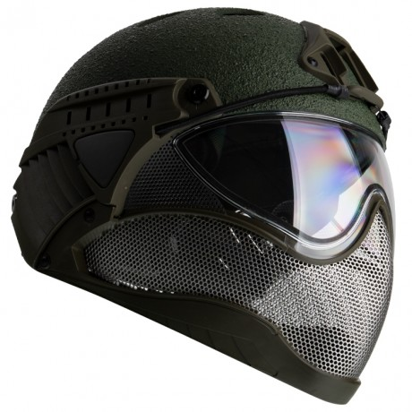 WarQ Fullface Airsoft Schutzhelm (RAPTOR-Green) | Paintball Sports