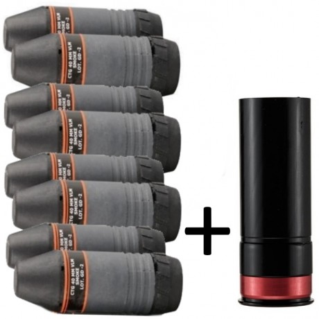Taginn VELUM Granaten Starter Kit (Hülse + 8 Granaten) | Paintball Sports