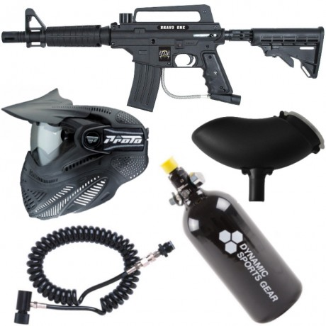 Tippmann Bravo One Elite Tactical Paintball Sparpaket / Komplettset | Paintball Sports