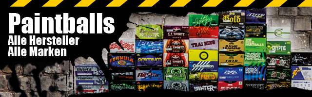 With us you get paintballs of all manufacturers and brands